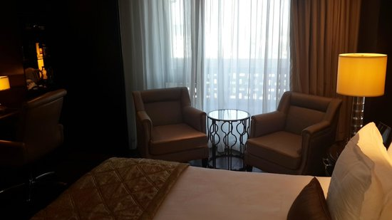 ITC Grand Chola, Chennai: The balcony is big enough but not accessible