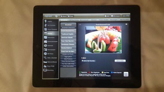 ITC Grand Chola, Chennai: The best part is the I PAD controlled smart room feature!