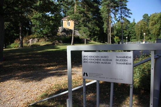 Gate to Urho Kekkonen Museum Tamminiemi