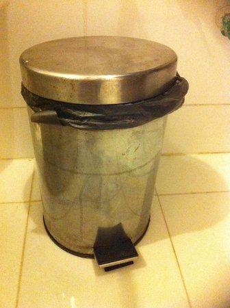 Vientiane Plaza Hotel: Filthy waste bin in bathroom ugh!