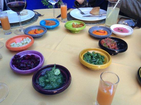 Dar Moha: Ensaladas