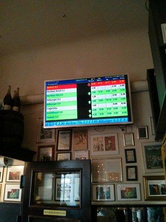 Die Berliner Republik - Brokers Bierbörse: price screen