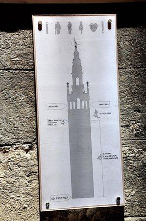Torre Giralda: plano de la torre