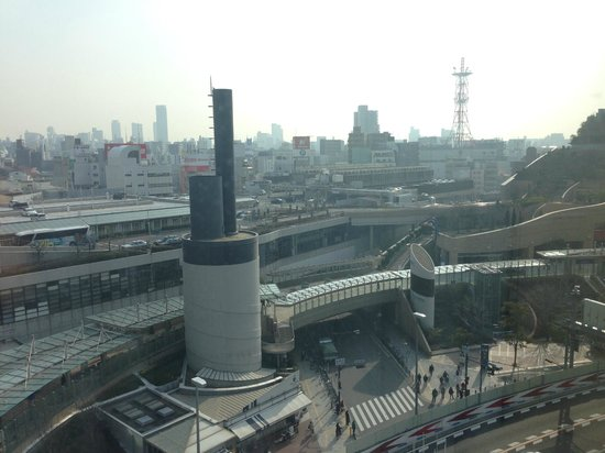 Fraser Residence Nankai Osaka : View from my suite - part of Namba City and Namba Park