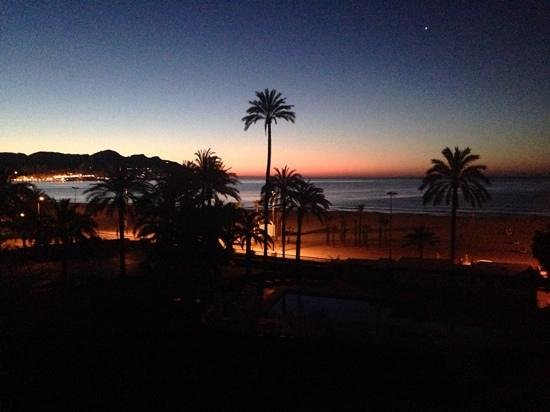 Gran Hotel Delfin : View from our room watching the sun come up.