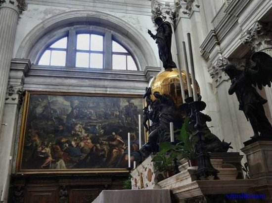 San Giorgio Maggiore: Главный алтарь и картина Тинторетто