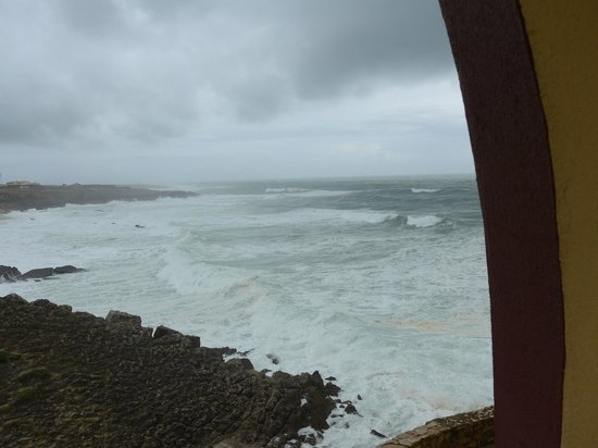 Fortaleza do Guincho: Stormy April views from room