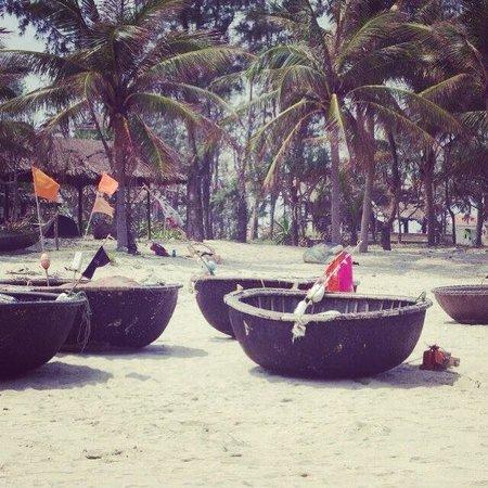 Cua Dai Beach: Fisherman's boats