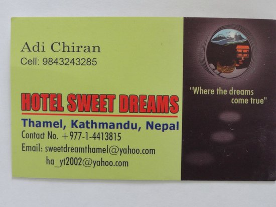 Hotel Sweet Dreams : contact info