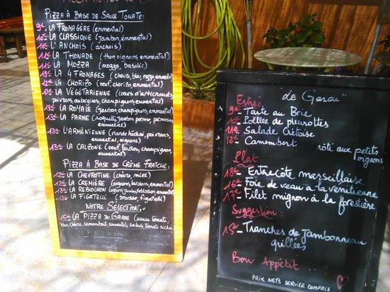 Restaurant le Garde: Les Ardoises