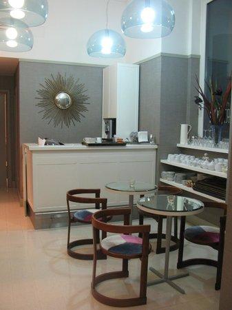 Portalba Relais : communal cafe/sitting area