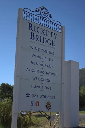 Franschhoek Wine Tram: on the way to Rickety Bridge winery
