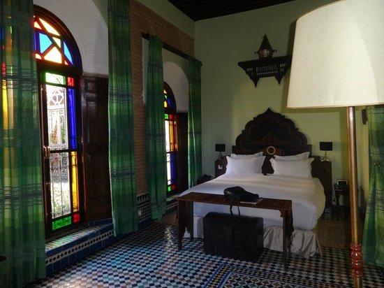 Riad Le Calife : Bedroom Emerald suite