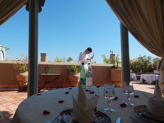 Riad Kniza: La terraza