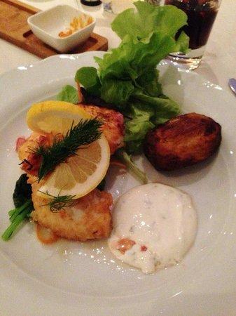 Northern Light Inn : Atlantic wolf fish - fresh in hotel restaurant