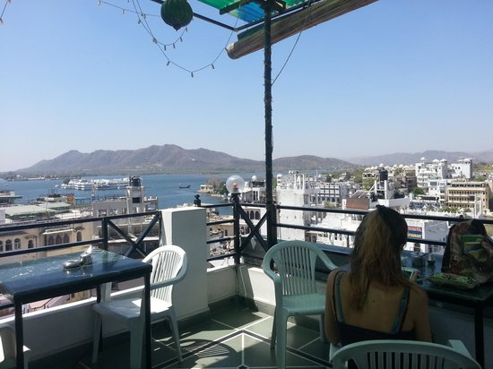 Kesar Palace: view from the rooftop restaurant
