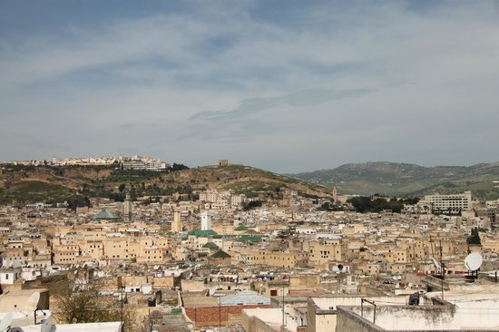 Dar Naima: vue de la terrasse