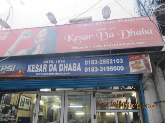Kesar da Dhaba: Amazing Dhabba... Must experience once in a life time