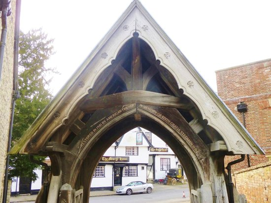Dorchester Abbey: lych gate