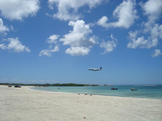 S.E. Aruba Fly 'n Dive: Back on land with a different view, they are literally a Fly n Dive operation if you want to do