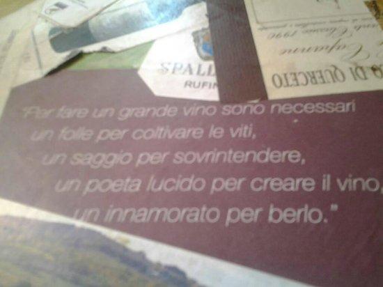 Girodibacco: Bellissimi i motti del ristorante