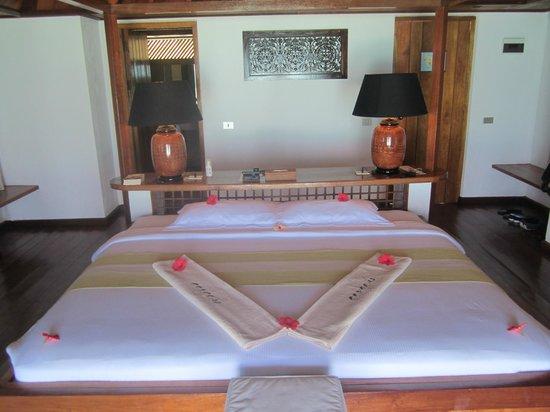 Gangehi Island Resort: Geräumiges Zimmer mit viel Abstellflächen rundherum