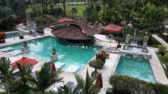 The Royal Corin Thermal Water Spa & Resort : 3 main pools one is hot, second (main) is perfect and third is cold.