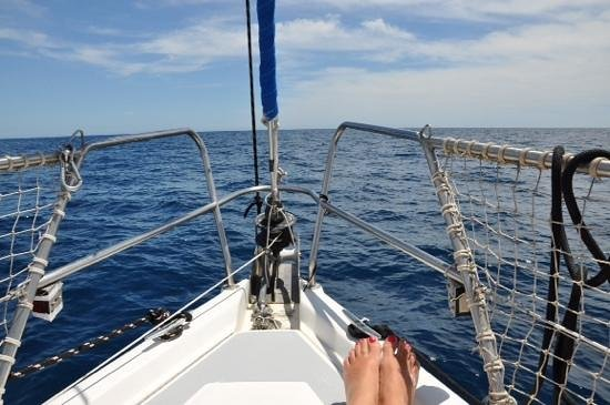 Cabo Sails: relaxing in the sun
