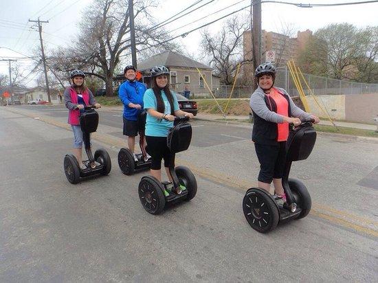 Gliding Revolution: capital pavement historical tours of Austin via Segway.