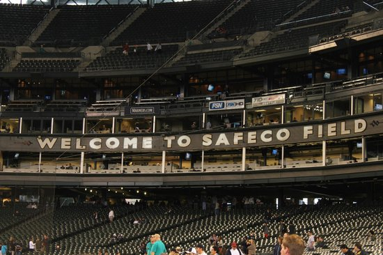 Safeco Field: view from our seat, all the way up, last row