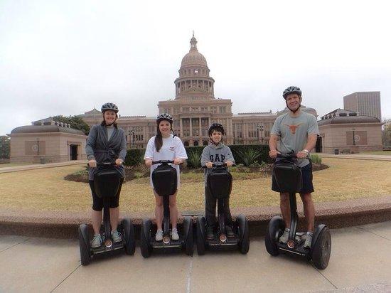 Gliding Revolution: State Capital of Texas Segway historical tour of Austin! Segway tour of Austin.