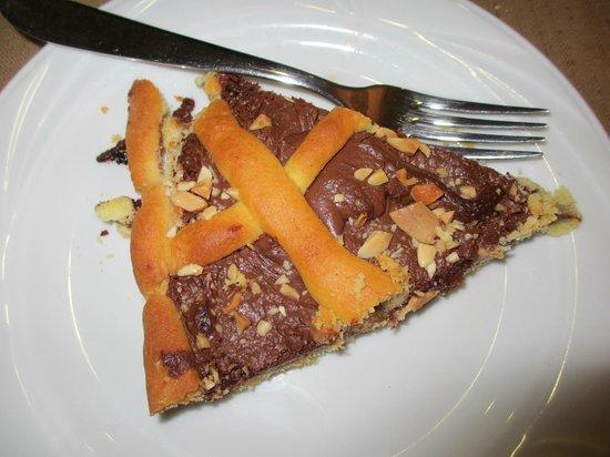 Tre Rose : Crostata Nutella e mascarpone.