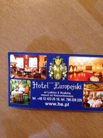 Europejski Hotel: 素敵なホテルでした。