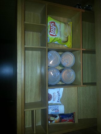 The Westin Chennai Velachery: snacks in the minibar