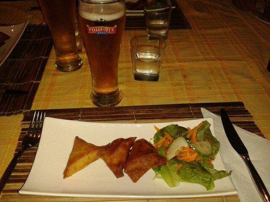 Restaurant La Plancha: Trio de samoussas