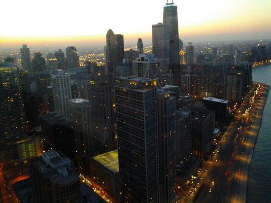 Cite view at sunset