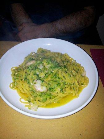 Pezzafina: Gamberi e zucchine.
