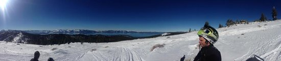 Zephyr Cove Resort Snowmobiling Tours: Lake Tahoe from above