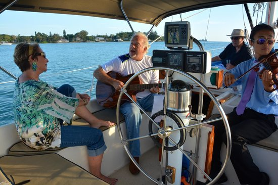 Key Sailing : Quiet sail is perfect for musical serenade