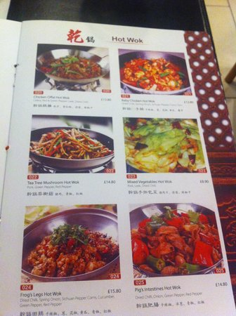 Sanxia Renjia Chinese Restaurant and Karaoke: Page from Menu