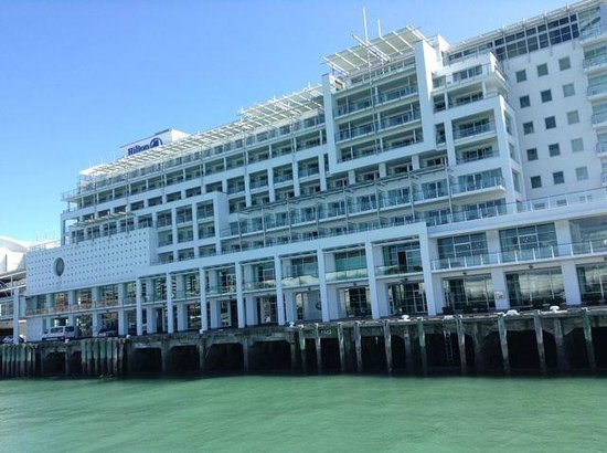 Hilton Auckland : View of Hilton From Ferry Boat