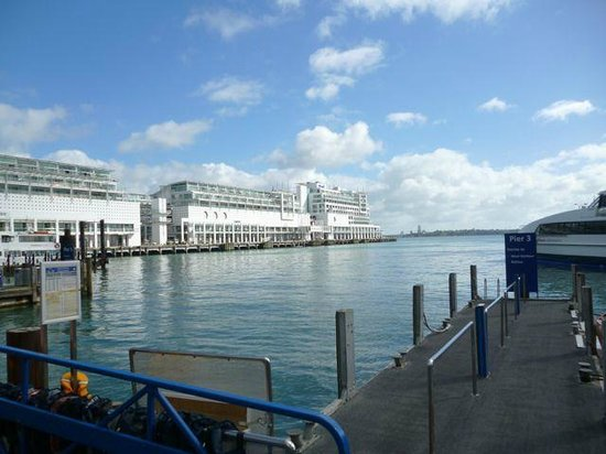Hilton Auckland: View of Hilton From Dockside