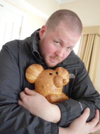 Bistro Boudin : Cuddling bread... because it's CUTE bread...