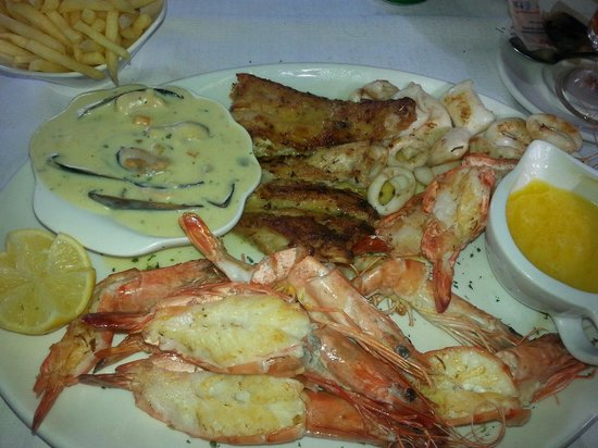 Eviva : My Platter #Mussels #LineFish #Calamari #Prawns