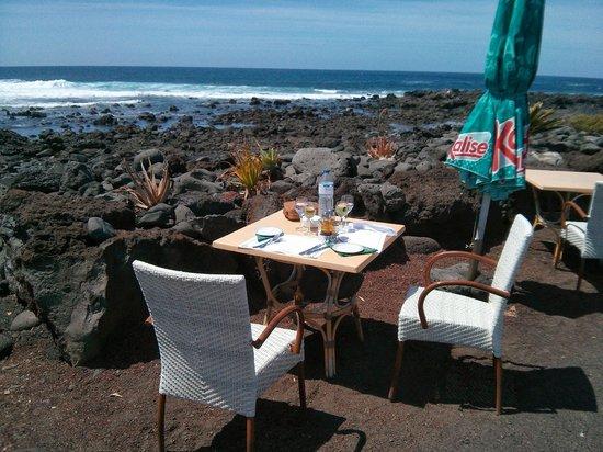 Restaurante El Caleton : las mesas con sus vistas. Impresionante!!!