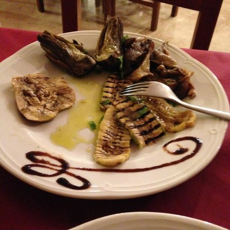 Eggplant and Artichokes at Trattoria Chicchirichi