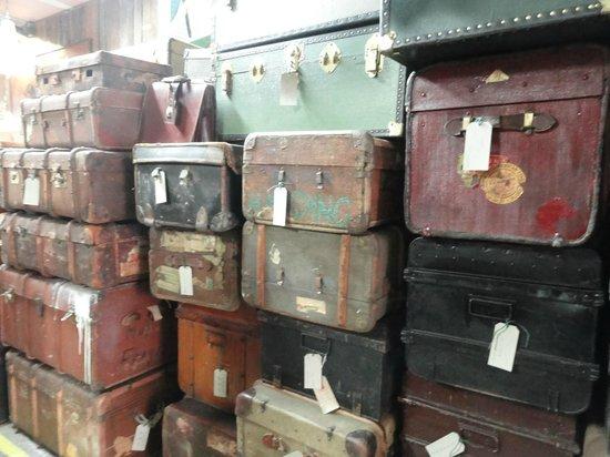 Maltby Street Market: Maltby Street Food Market - suitcases on sale
