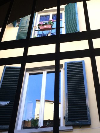 Residenza Il Villino B&B: A small solarium was outside my window, which had bars because I was on the first floor.
