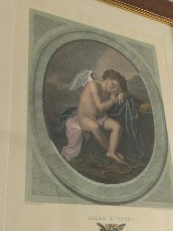 Residenza Il Villino B&B: Florentine artwork adorned the walls. No modern stuff here.