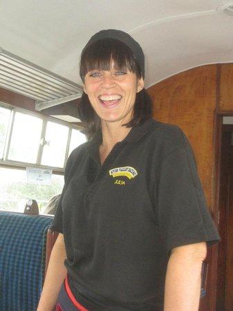 Avon Valley Railway (AVR): Julia welcomes us on board